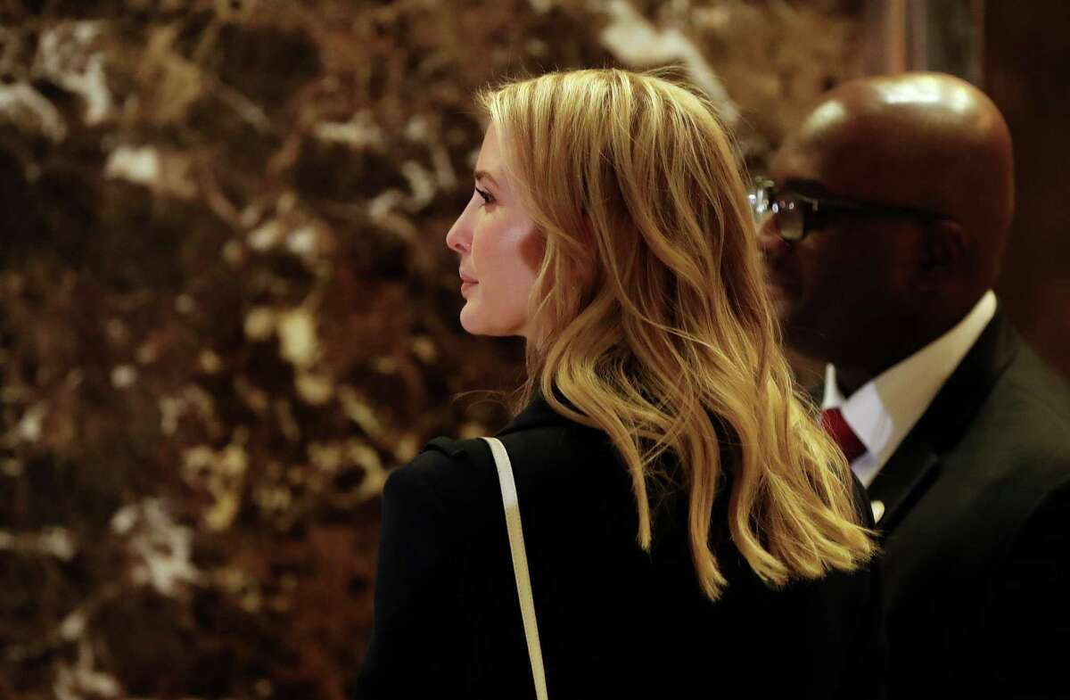 Ivanka Trump, daughter of President-elect Donald Trump, waits for an elevator as she arrives as at Trump Tower, Monday, Nov. 21, 2016 in New York. AP Photo/Carolyn Kaster)