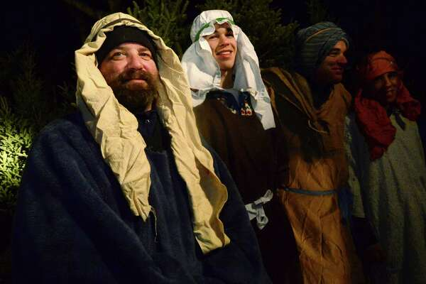 Over 60 performers portray shepards, kings and angels including Bill Pank and Ajax Diamandis as shepards in the 53rd Annual Rowayton Nativity Pageant Saturday, December 10, 2016 at Pinkney Park in Norwalk, Conn. The pageant was originally produced in 1963 in response to the nation's grief over the assassination of President John F. Kennedy.