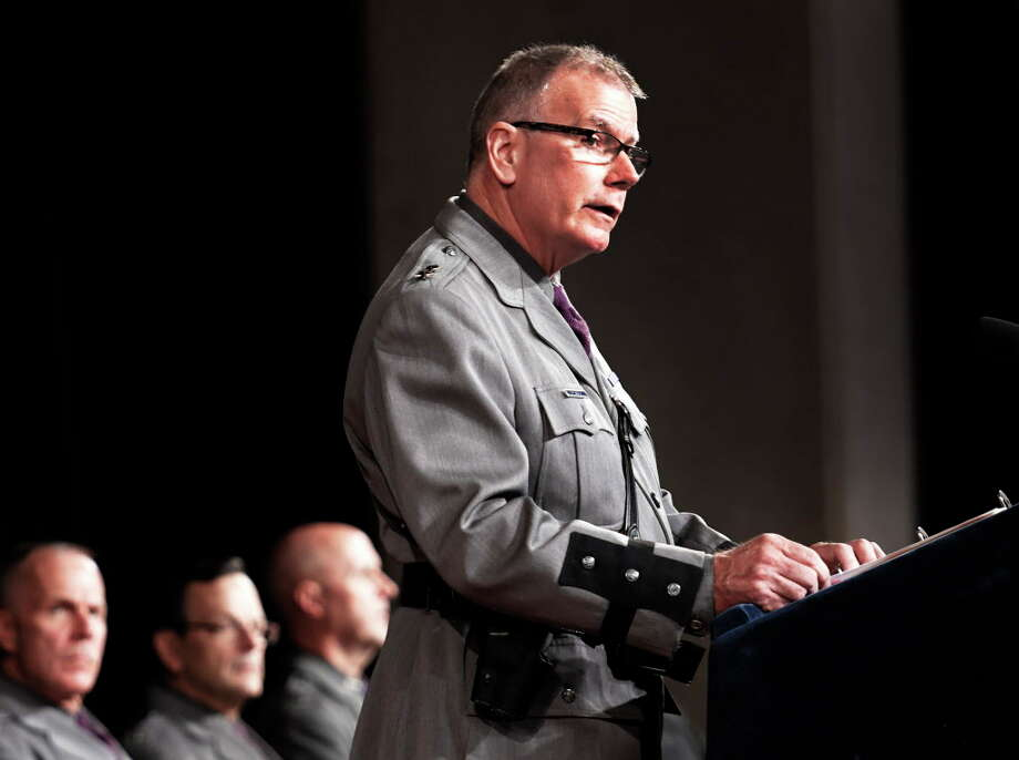 State Police Superintendent George P. Beach II has declined to answer questions about his position on the agency's handling of internal investigations involving criminal conduct by troopers. The agency also refused to provide basic information about its internal affairs bureau. An investigation is also looking at why a downstate trooper crashed his vehicle in Dutchess County. (Skip Dickstein/Times Union) Photo: SKIP DICKSTEIN / 20038365A