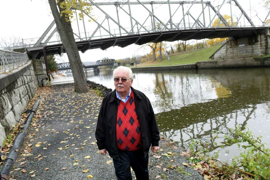 Mayor J. Bert Mahoney walks along the waterfront that leads to the Erie Canal on Wednesday, Nov 9, 2016, in Waterford, N.Y. (Cindy Schultz / Times Union) Photo: Cindy Schultz / Albany Times Union