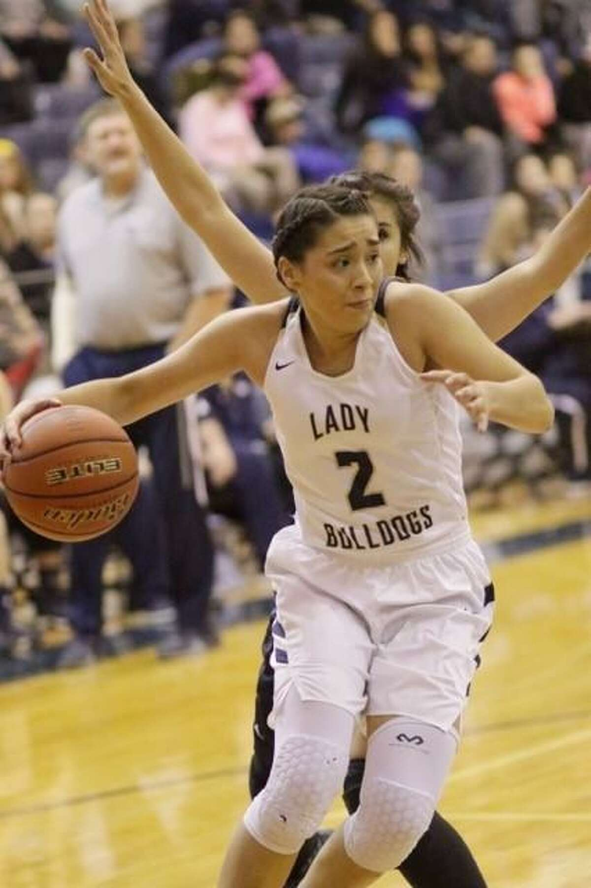 Alexander's Dannia Gonzalez finished with 14 points and 15 rebounds to lead the Lady Bulldogs over Smithson Valley Saturday in the last game before district play begins.