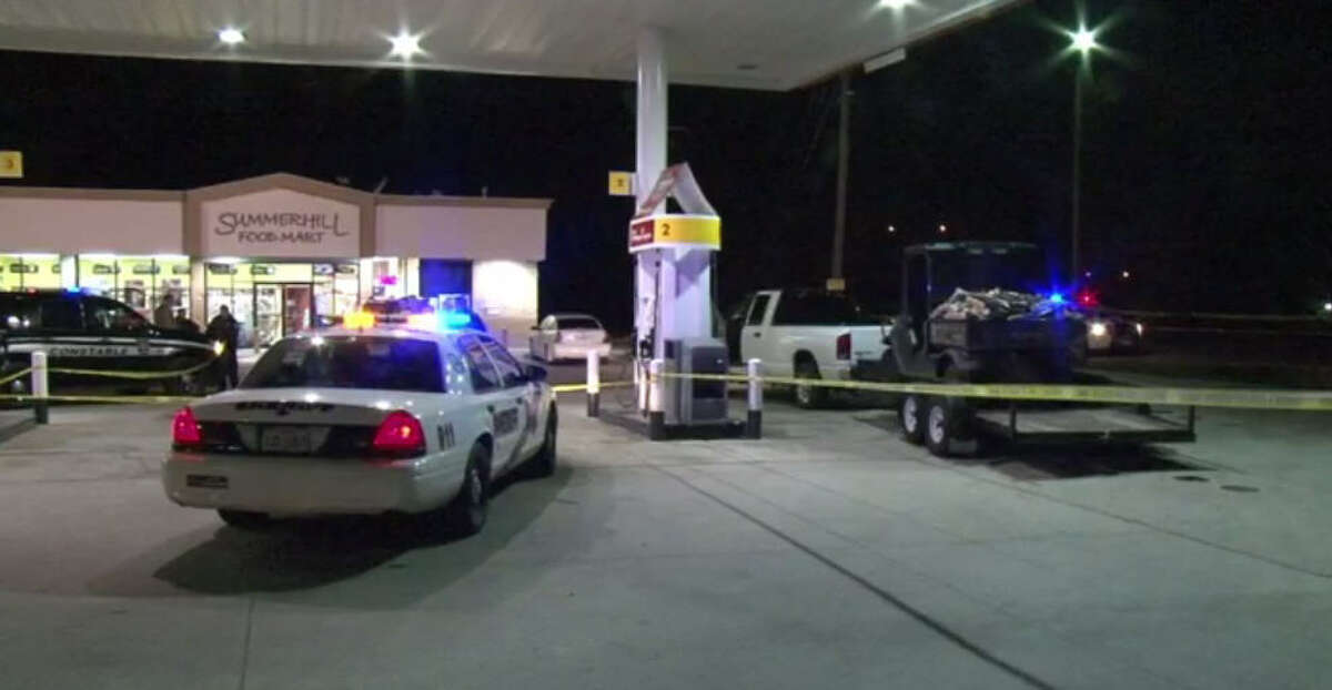 An off-duty deputy and his wife were attacked at a Montgomery County gas station, authorities said.