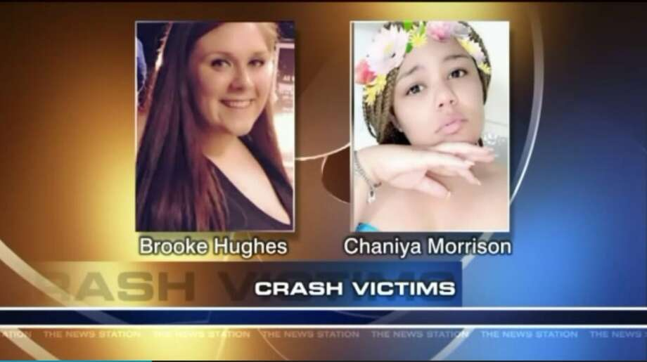 18-year-old Brooke Miranda Hughes was live-streaming herself as she drove along a Pennsylvania highway, moments before the crash that killed her and 19-year-old Chaniya Morrison-Toomey. Photo: Screen Grab