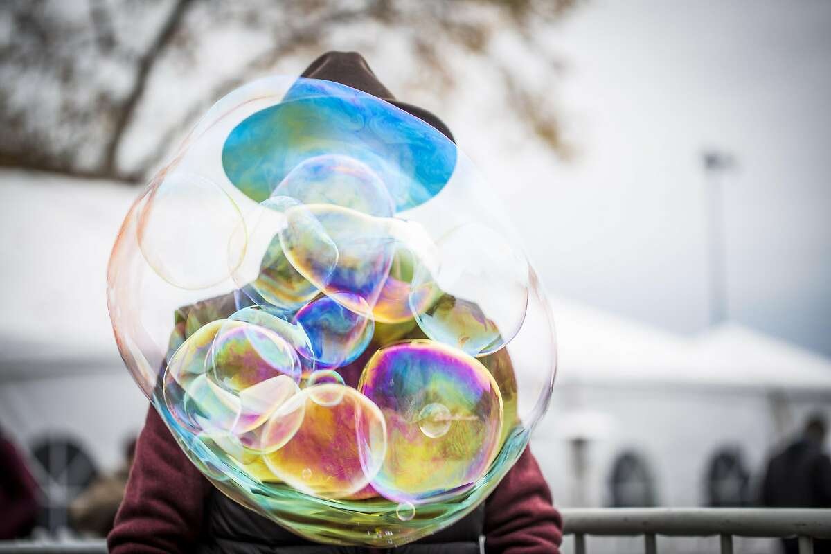 Ray Brisebois demonstrates his bubble makers for sale Saturday, Dec. 10, 2016 in Santa Rosa, CA at the Emerald Cup -- a 30,000 person cannabis county fair; the world's largest. This is the first big pot party since Prop 64 has passed, ad out angle is focusing on the newcomers to the massive, sprawling event.