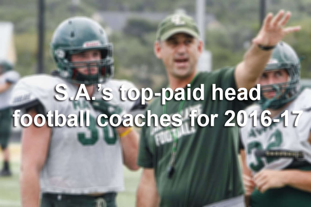 In a city where the gridiron reigns, the majority of head football coaches at San Antonio-area high schools will earn a salary of at least $90,000 in the 2016-2017 school year, according to records obtained by mySA.com.Here are the 30 highest-paid head football coaches at San Antonio-area high schools.