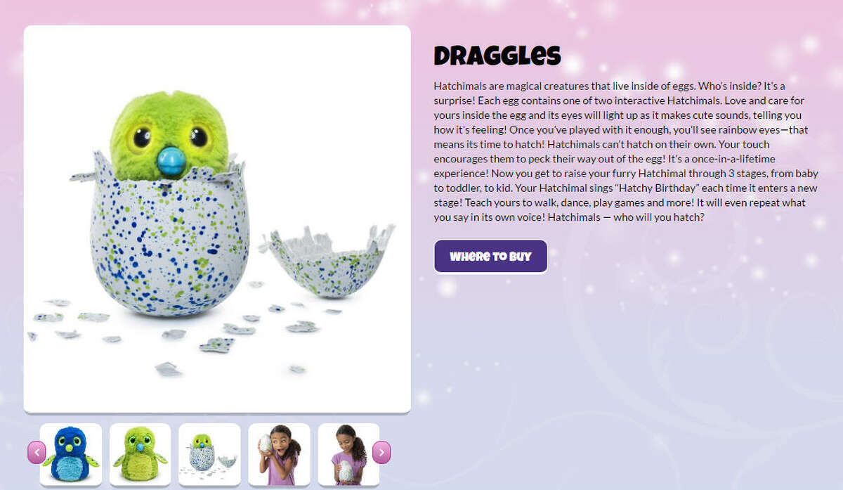 Every year, a toy hits the market that just makes people crazy. This year, it's furry and comes in an egg. This year's toy that's insanely highly sought is a Hatchimal. Basically, someone hatches their own egg and a toy comes out to play with. Click through to learn more.