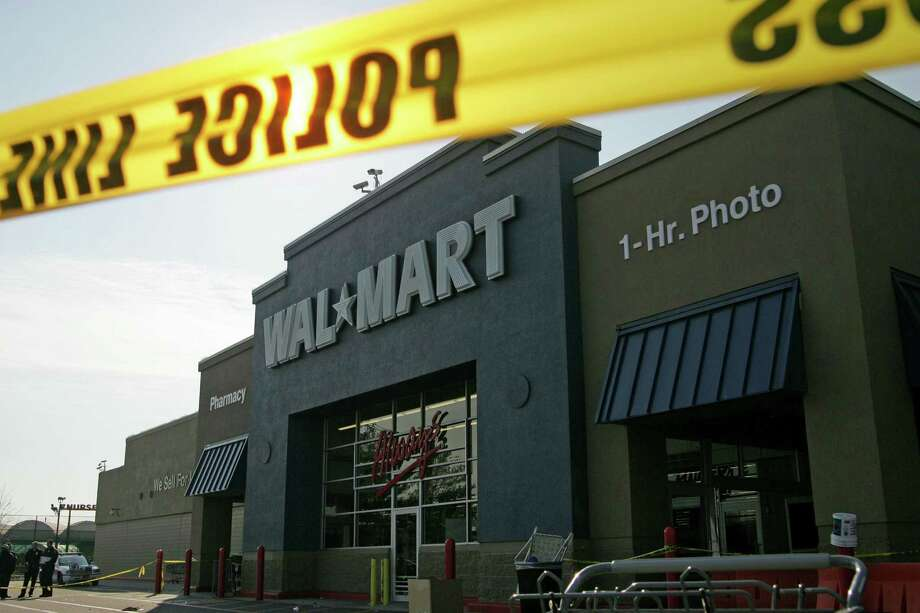 A Bloomberg analysis of police reports from dozens of stores found the number of petty crimes committed on Walmart properties this year was probably in the hundreds of thousands and a violent crime occurs at one of its stores, on average, at least once a day. While Walmart says it is working to address the problem, the labor group argues the company should be doing more. It's demanding the retailer hire additional off-duty police officers and private security guards. And the union wants stores to make employees more visible in the shopping aisles to deter theft. Photo: Associated Press /File Photo / FR81159 AP