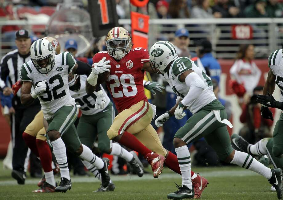 Carlos Hyde returns, but the 49ers have utilized all avenues to bolster the backfield: free agency (Tim Hightower), trade (Kapri Bibbs),  draft (fourth- round pick Joe Williams) and post- draft signing (undrafted rookie Matt Breida). Photo: Carlos Avila Gonzalez, The Chronicle