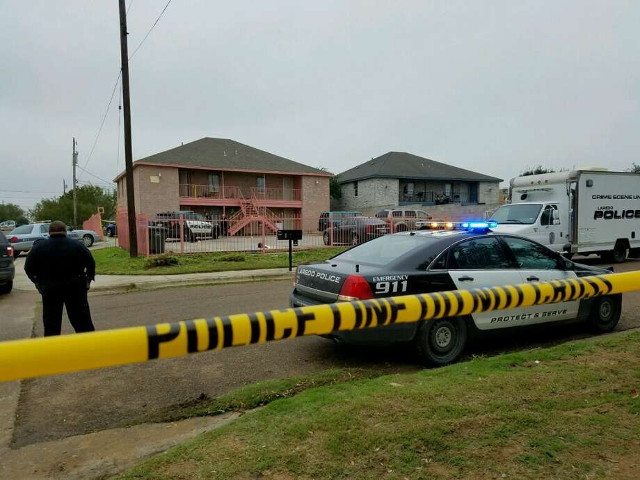 Laredo police investigate the scene of a fatal officer-involved shooting Sunday in the 2700 block of Norton Street. Photo: Courtesy