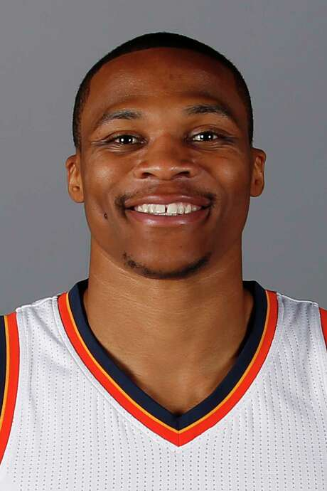 This a headshot of basketball player Russell Westbrook. Russell Westbrook is an active basketball player for the Oklahoma City Thunder as of Friday, Sept. 23, 2016 in the NBA. (AP Photo/Sue Ogrocki) Photo: Sue Ogrocki, STF / AP2016