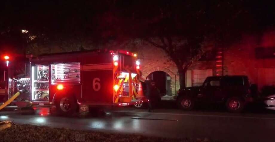 A fire overnight damaged five apartments. Photo: Metro Video