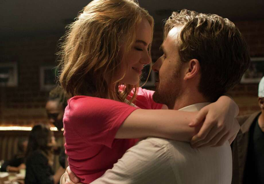 "Ryan Gosling, right, and Emma Stone in a scene from, ""La La Land,"" which received 7 nominations. The film was nominated for a Golden Globe award for best motion picture musical or comedy on Monday, Dec. 12, 2016. The 74th Golden Globe Awards ceremony will be broadcast on Jan. 8, on NBC.  Photo: Dale Robinette, AP / Lionsgate"
