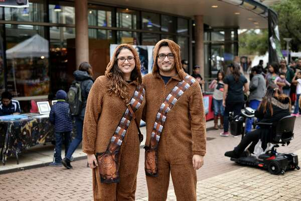 """The force was strong in San Antonio this weekend as """"Star Wars"""" fans joined together for the Wookiee Walk downtown on Sunday, Dec. 11, 2016."""