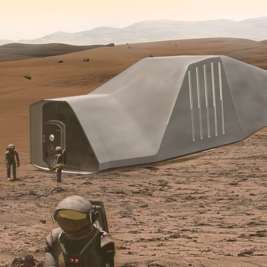 "Architectural concepts for NASA's ""3D-Printed Habitat Challenge,"" a competition created by NASA to judge design concepts of Mars settlements. Photo: NASA 3D-Printed Habitat Challenge"