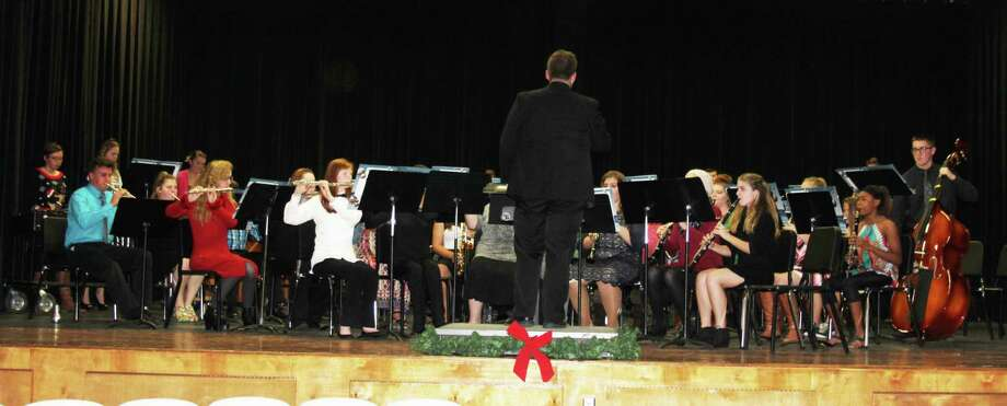 "The Coldspring-Oakhurst High School band finishes their section of the Christmas Concert with ""Carol of the Night."" Photo: Jacob McAdams"