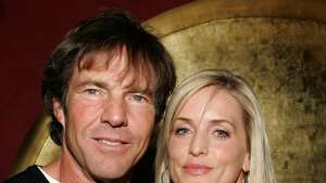 NEW YORK CITY, NY - APRIL 18: Dennis Quaid and Kimberly Quaid attend Conde Nast Traveler Hot List Party at Buddha Bar on April 18, 2006 in New York City. (Photo by Jimi Celeste/Patrick McMullan via Getty Images)