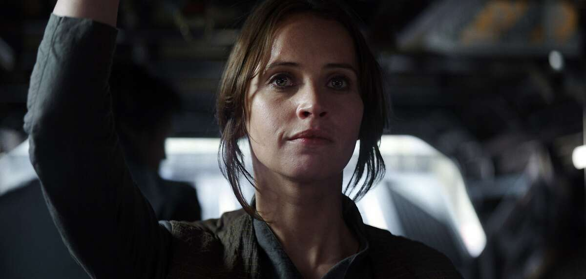 This image released by Lucasfilm Ltd. shows Felicity Jones as Jyn Erso in a scene from,