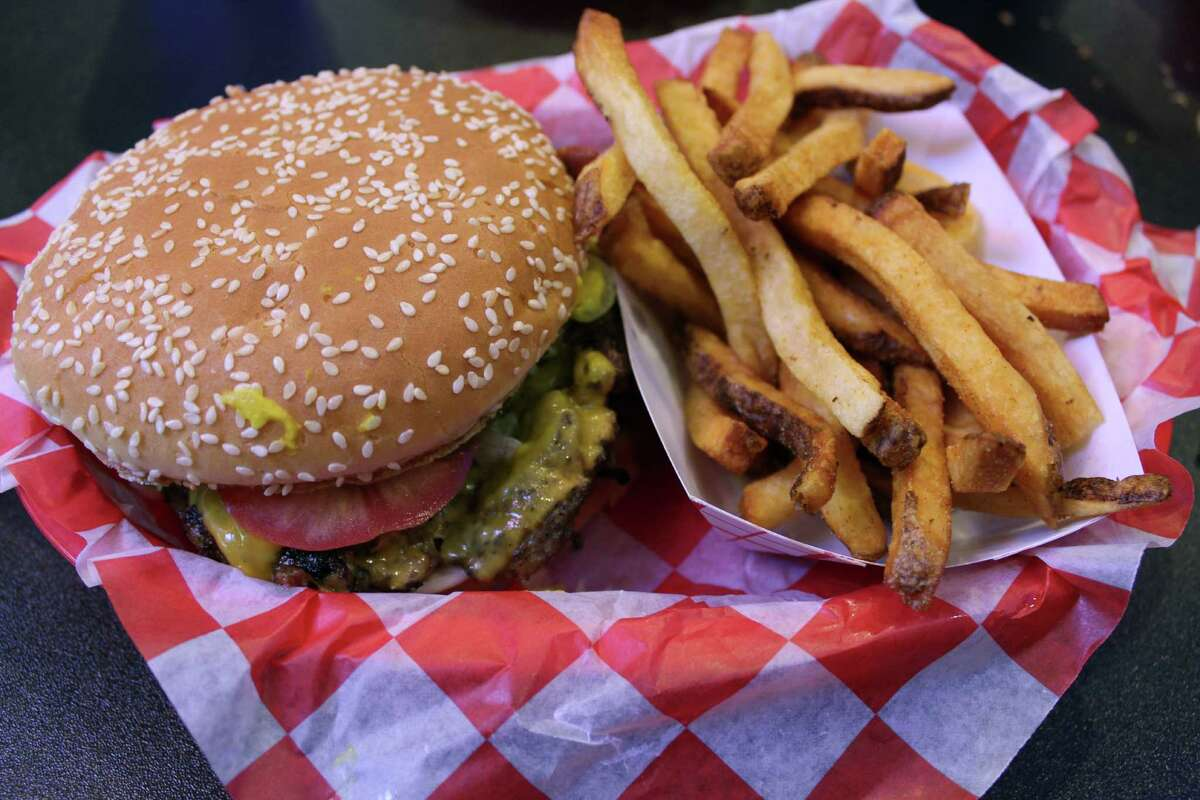 A burger and fries from Big Bob's Burgers.