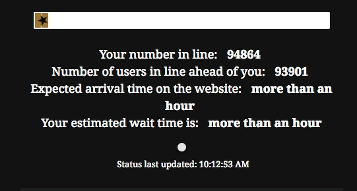 'Hamilton' seats became available to the general public Monday morning, and only minutes after the official 10 a.m. sale time nearly 100,000 people were in the digital queue.