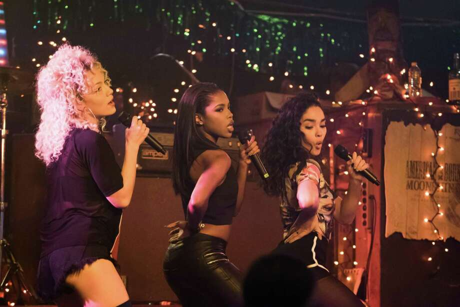 """Jude Demorest (left), Ryan Destiny and Brittany O'Grady make up a musical trio with troubled backgrounds trying to make it big in the music industry in """"Star."""""""