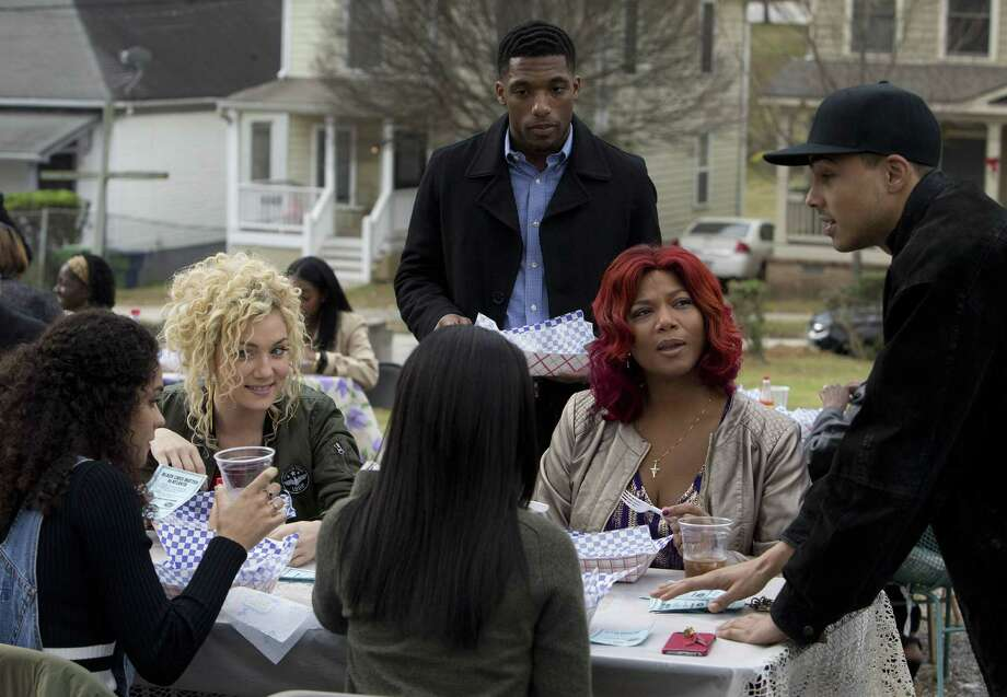 """Brittany O'Grady (left), Jude Demorest, Queen Latifah and Quincy Brown in the premiere of """"Star."""""""