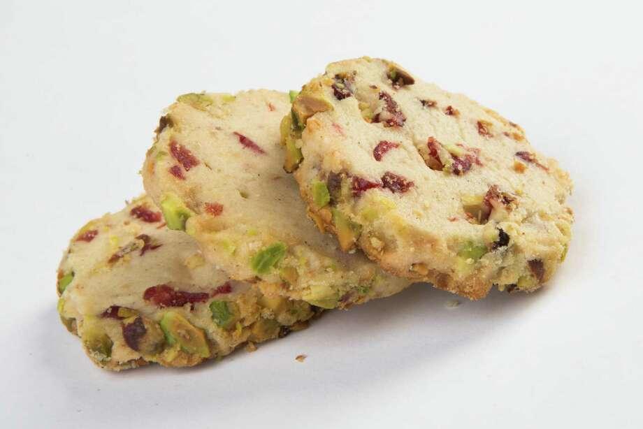 Cardamom-scented Cranberry Pistachio Shortbread Cookies Photo: Marie D. De Jesus, Staff / © 2016 Houston Chronicle