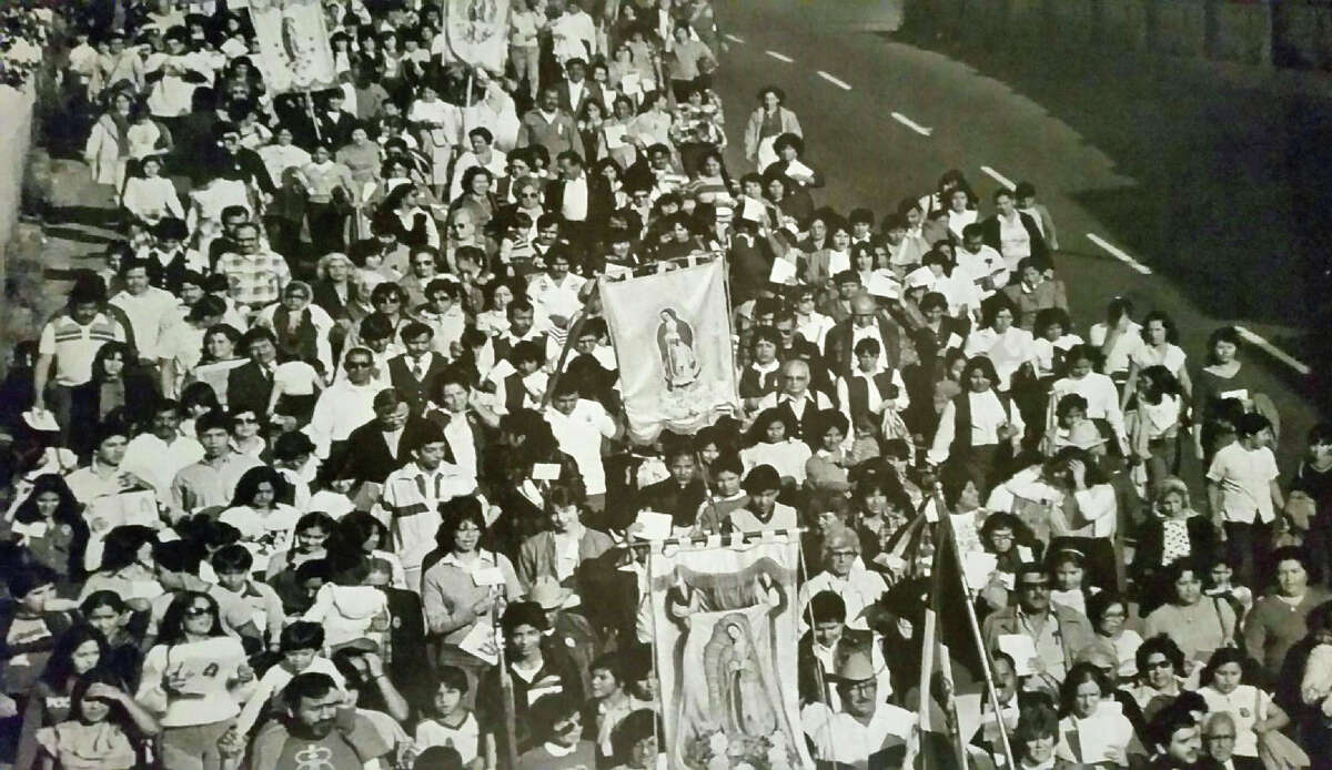 Our Lady of Guadalupe Procession in Houston, Texas, 1976.