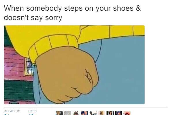 """Arthur,"" a character from a children's book who stars in his own cartoon, became synoymous with expressing anger on social media. Knowyourmeme.com lists the first use of the meme on July 27, 2016. Since then, Arthur's fist continues to pop up on social media.  