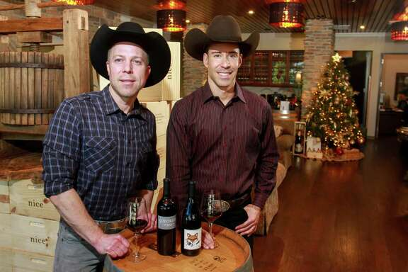 Ian Eastveld, left, and Ryan Levy, owners of Nice Guys Winery.  (For the Chronicle/Gary Fountain, December 6, 2016)