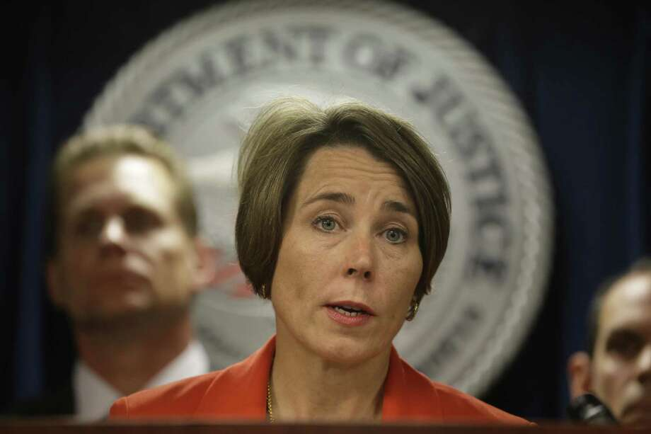 Attorney General Maura Healey, who is looking into whether Exxon Mobil misled the public about the impact of fossil fuels on climate change, was to have been deposed in Dallas on Tuesday in a lawsuit brought by Exxon Mobil claiming that her investigation was politically motivated. U.S. District Judge Ed Kinkeade canceled the deposition in a one-sentence order without explanation. Photo: Steven Senne /Associated Press / AP