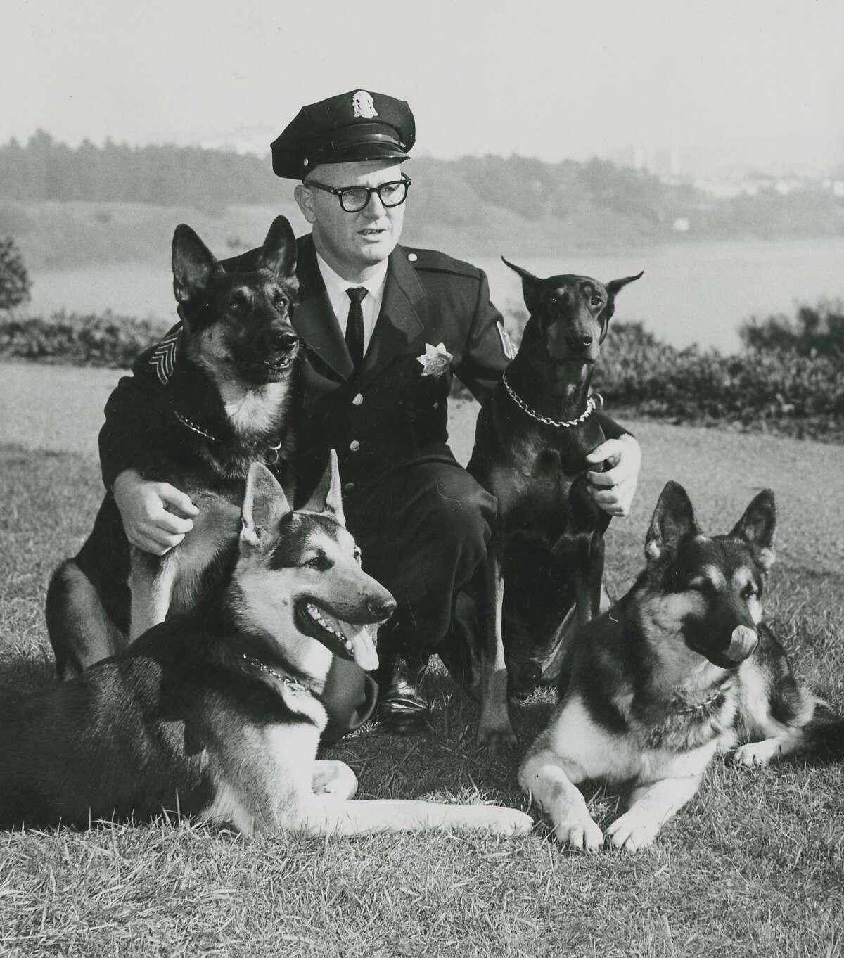 San Francisco Police K9 unit, May 1, 1963.
