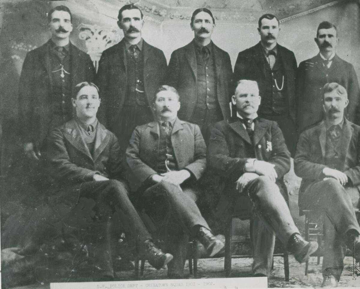 """1900s : Image taken from original photo showing the 1902 """"Chinatown Squad."""""""
