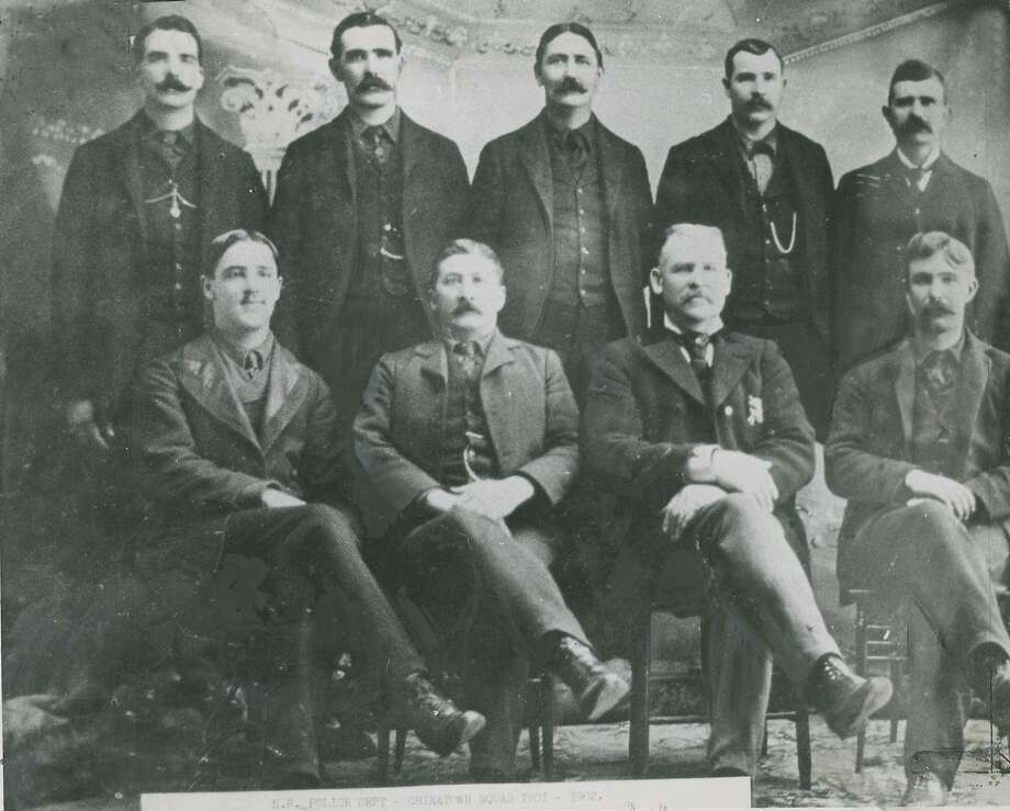 "1900s: Image taken from original photo showing the 1902 ""Chinatown Squad."" Photo: Chronicle Archives"