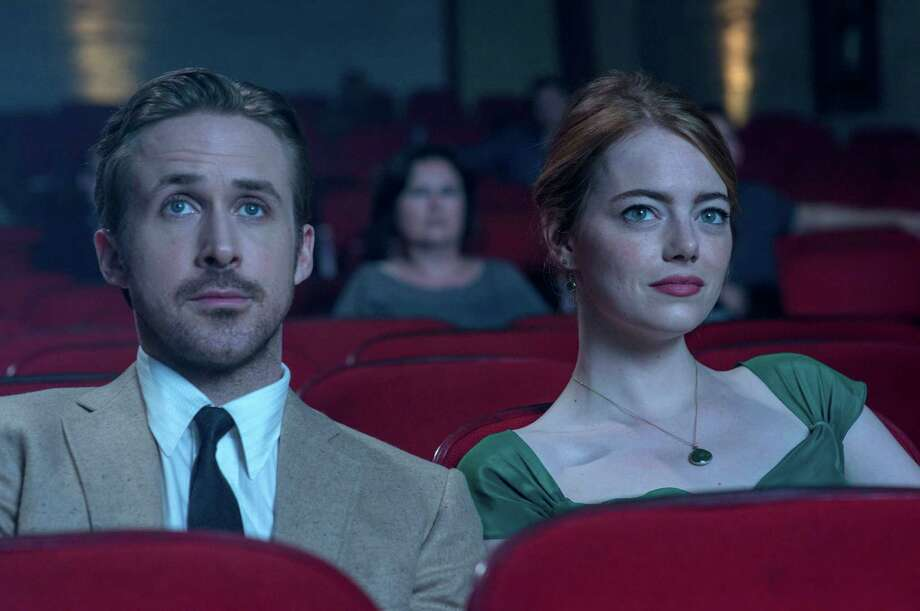 """This image released by Lionsgate shows Ryan Gosling, left, and Emma Stone in a scene from, """"La La Land."""" (Dale Robinette/Lionsgate via AP) Photo: Dale Robinette, HONS / Lionsgate"""