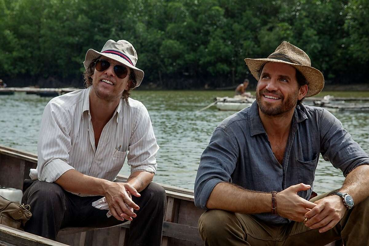 "Matthew McConaughey (left) stars with Edgar Ramirez in ""Gold."""