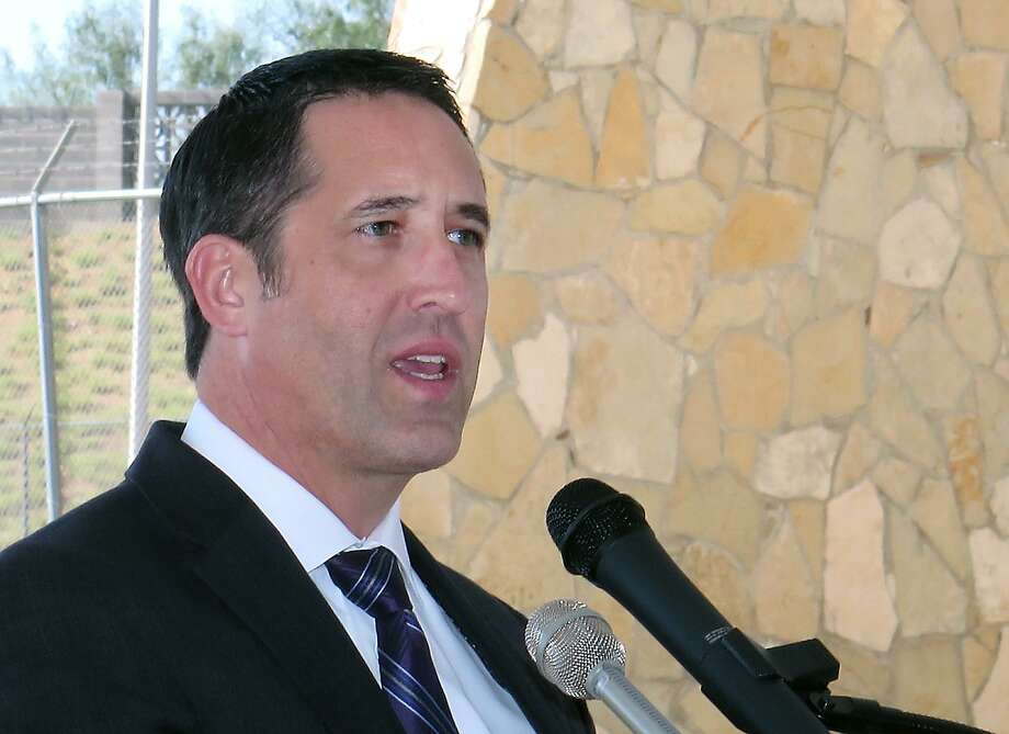 State Comptroller Glenn Hegar spoke to local officials, representatives of customs brokers associations, the Laredo Chamber of Commerce and members of the media Monday afternoon after touring the World Trade Bridge. Hegar came to Laredo to promote the Port of Laredo and its impact on the state economy. Photo: Cuate Santos / Laredo Morning Times / Laredo Morning Times