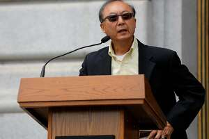 Bill Ong Hing, a USF law professor, speaks at an immigrant rights news conference at City Hall in San Francisco, California, on Tuesday, July 14, 2015.