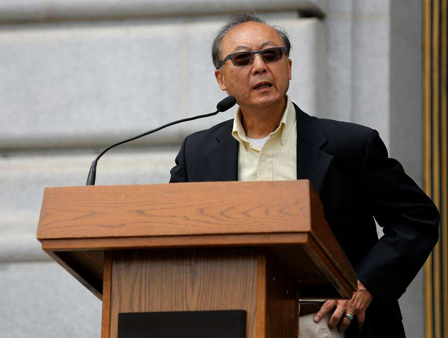 Bill Ong Hing, a USF law professor, speaks at an immigrant rights news conference at City Hall in San Francisco, California, on Tuesday, July 14, 2015. Photo: Connor Radnovich, The Chronicle