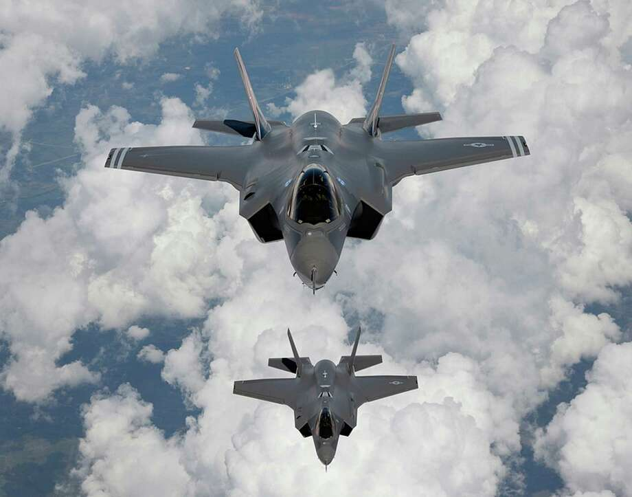 A tweet Monday by President-elect Donald Trump about the F-35 Joint Strike Fighter program caused Lockheed Martin stock prices to tumble. s s undated file photo provided by Northrop Grumman Corp., shows a production model of a F-35 A Joint Strike Fighter. (Lockheed Martin/Xinhua/Sipa USA) Photo: Xinhua, HO / Sipa USA