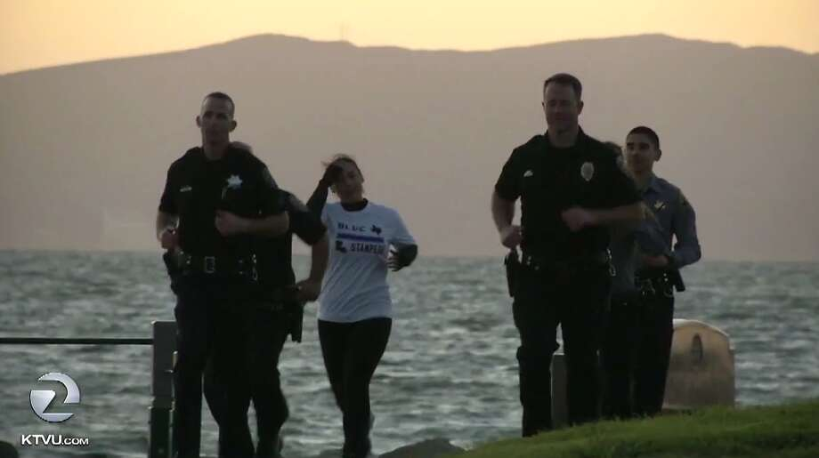 East Bay officers train for the Dallas Marathon. Photo: KTVU