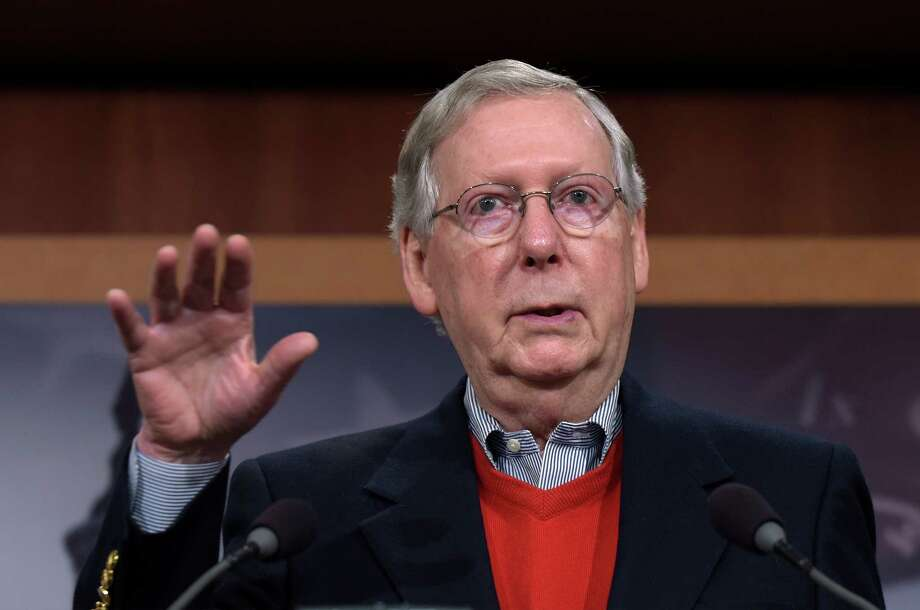 Senate Majority Leader Mitch McConnell of Ky., speaks during a news conference on Capitol Hill in Washington, Monday, Dec. 12, 2016. (AP Photo/Susan Walsh) Photo: Susan Walsh, STF / Copyright 2016 The Associated Press. All rights reserved.