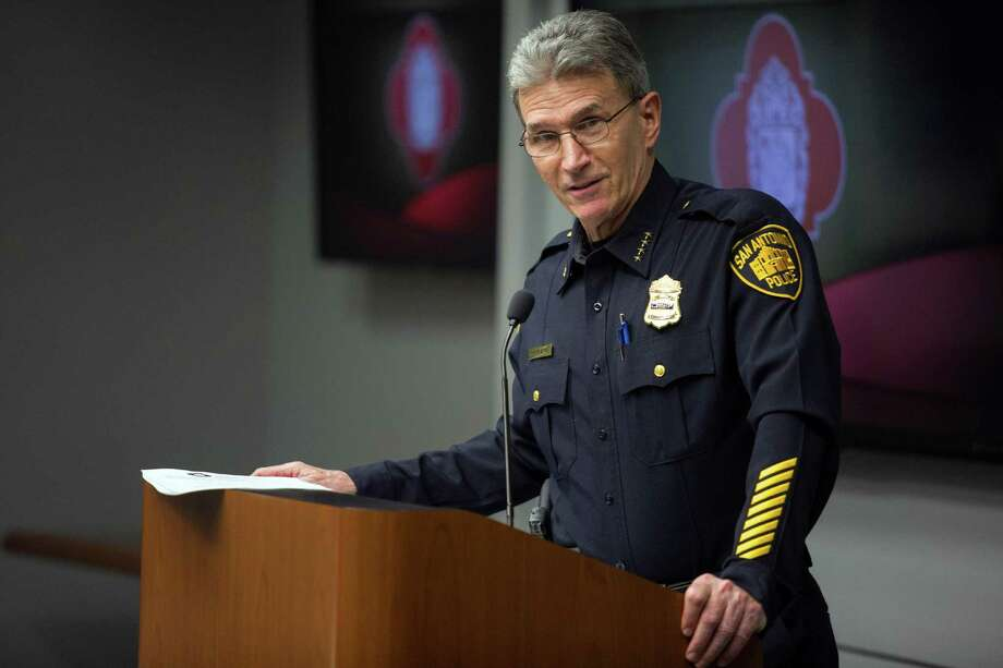SAPD Police Chief William McManus speaks during the Mayor's Council on Police Community Relations at City Hall in San Antonio, Texas on December 12, 2016. Ray Whitehouse / for the San Antonio Express-News Photo: Ray Whitehouse, Photographer / For The San Antonio Express-News / B641372596Z.1