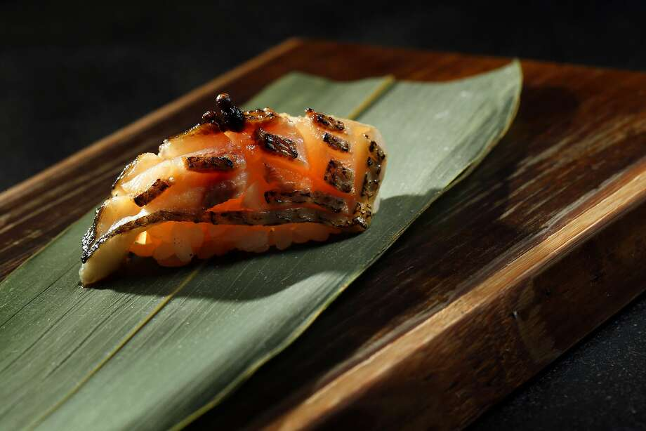 Kamasu nigiri served at Sushi Hon in San Francisco. Photo: Carlos Avila Gonzalez, The Chronicle