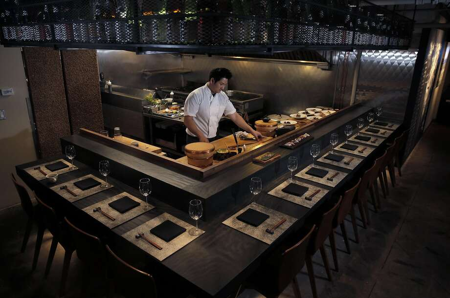 At Sushi Hon in S.F.: Omakase items are prepared.  Photo: Carlos Avila Gonzalez, The Chronicle