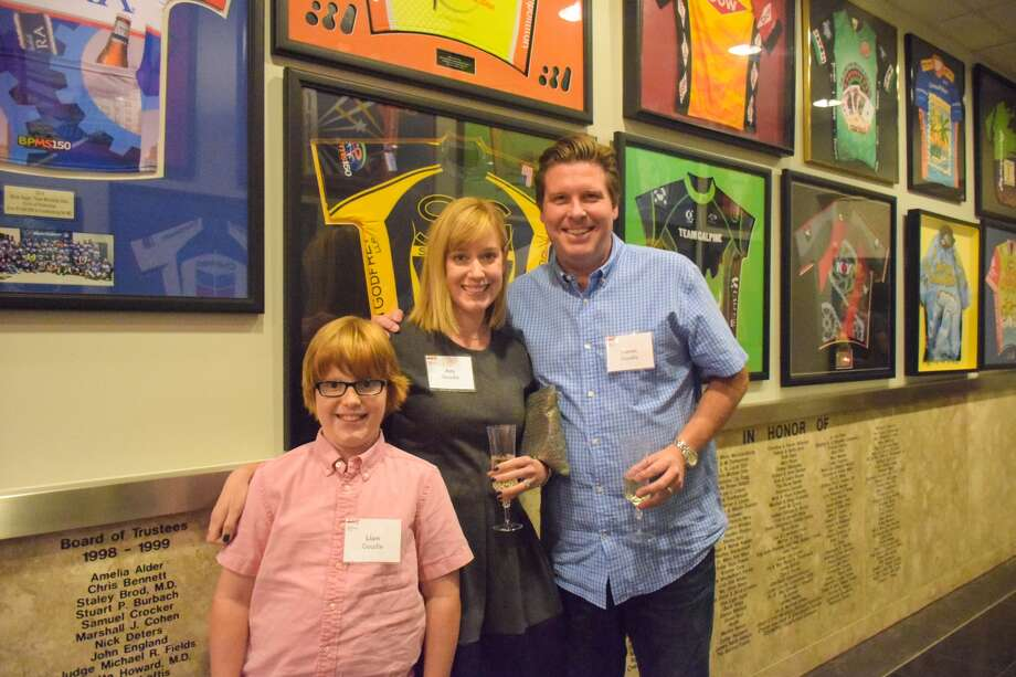 Steven Goudie, right, with Ami Goudie and Liam Goudie