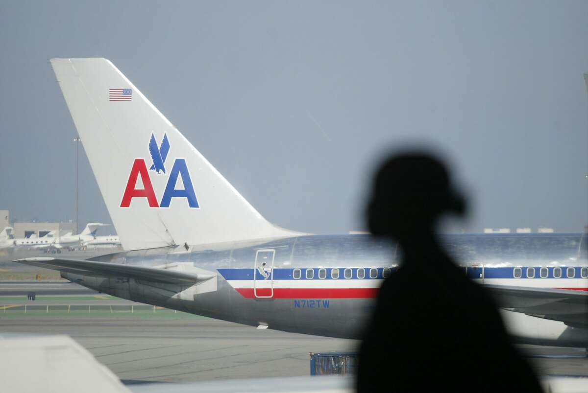 This file photo shows an American Airlines jet at San Francisco International Airport. On Monday night, American Airlines Flight 1799 was headed to SFO from Charlotte, N.C., when mechanical problems caused it to divert to Phoenix.