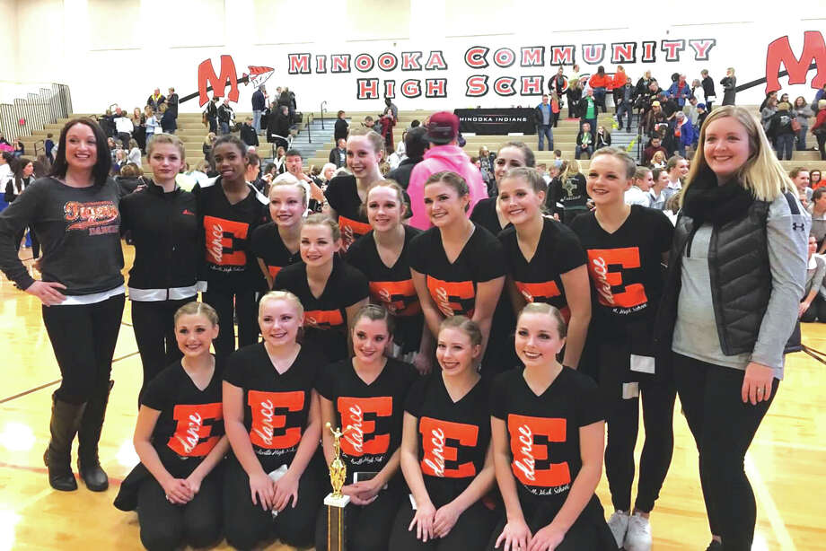 On the weekend of Dec. 3-4, the EHS Tigers Varsity Dance Team competed in their first IHSA Competition of the season in Minooka, IL. The season literally started off with a bang. The bus transporting the girls blew a tire in route to the competition, but this didn't deter the dancers. They arrived safely and just in time for their performance. The EHS Tigers Dance Team competed against 28 routines in the 3A category and were awarded 3rd place overall for their outstanding performance. Photo: For The Intelligencer