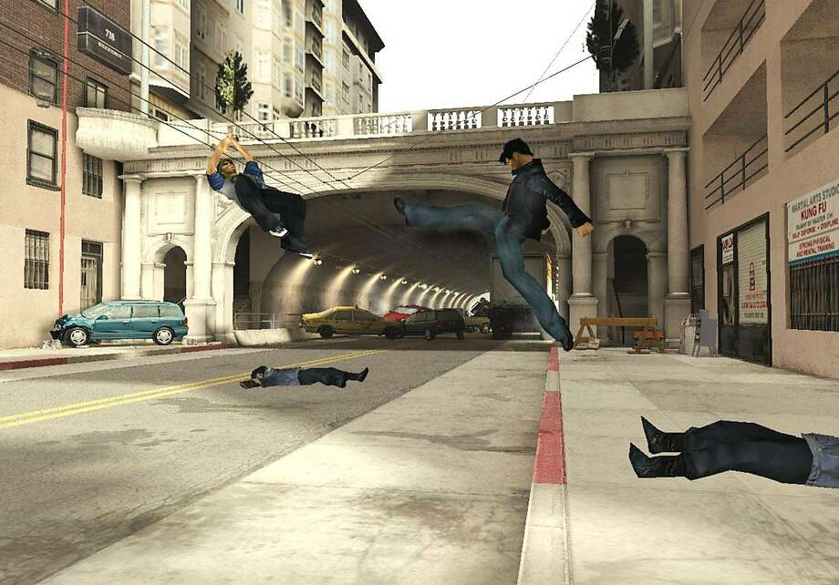 Jet Li takes his aggressions out at the Stockton tunnel in the video game Rise to Honor. Photo: Sony Computer Entertainment