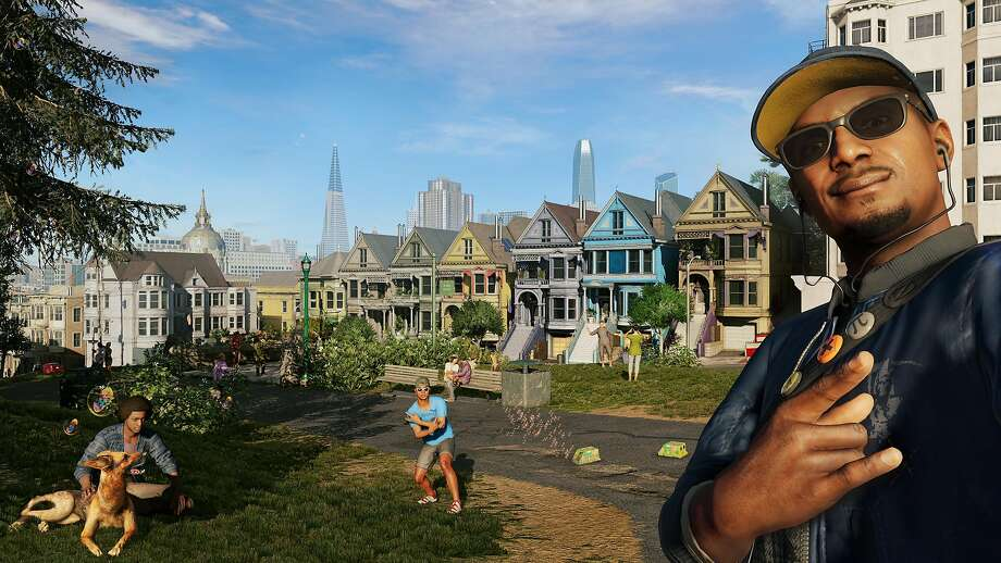 """""""Watch Dogs 2"""" features familiar S.F. landmarks such as the Painted Ladies houses, but it take a few liberties otherwise. Photo: Courtesy Ubisoft"""