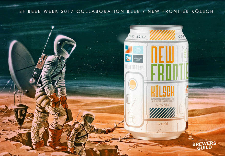 The San Francisco Brewers Guild's new collaboration beer, New Frontier, is a clean Kolsch-style ale made with Douglas fir tips and satsuma fruit. For the first time, it will be sold in cans. Scroll ahead to see some of the best SF Beer Week events announced so far.